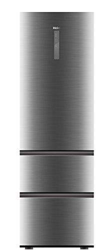 Haier A3FE735CGJE Kühl-Gefrier-Kombination (Gefrierteil unten) / A++ / 190 cm / 265 kWh/Jahr / 233 L Kühlteil / 97 Gefrierteil/Inverter Kompressor/Total No Frost/Silber