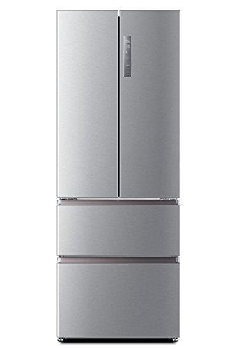 Haier HB16FMAAA Kühl-Gefrier-Kombination/A++ / 190.0 cm Höhe / 305 kWh/Jahr / 303 L Kühlteil / 121 L Gefrierteil/My Zone Fach/Innovative Gefrierschubladen/Edelstahllook
